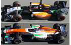 Force India VJM07 - F1-Technik-Check 2014