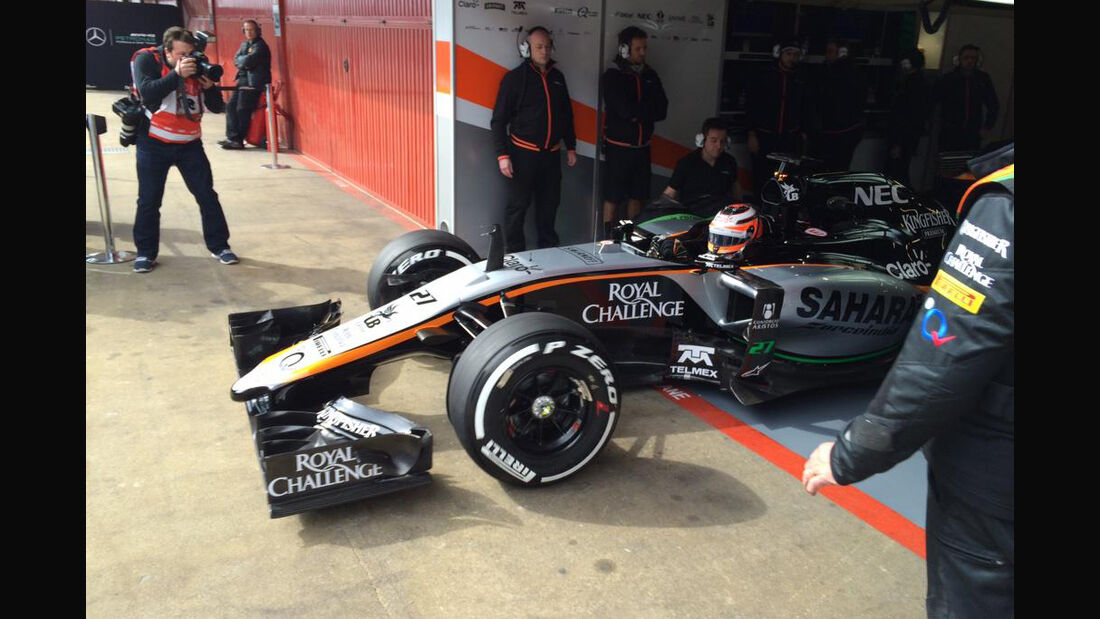 Force India VJM08 - Barcelona Test - 27. Februar 2015