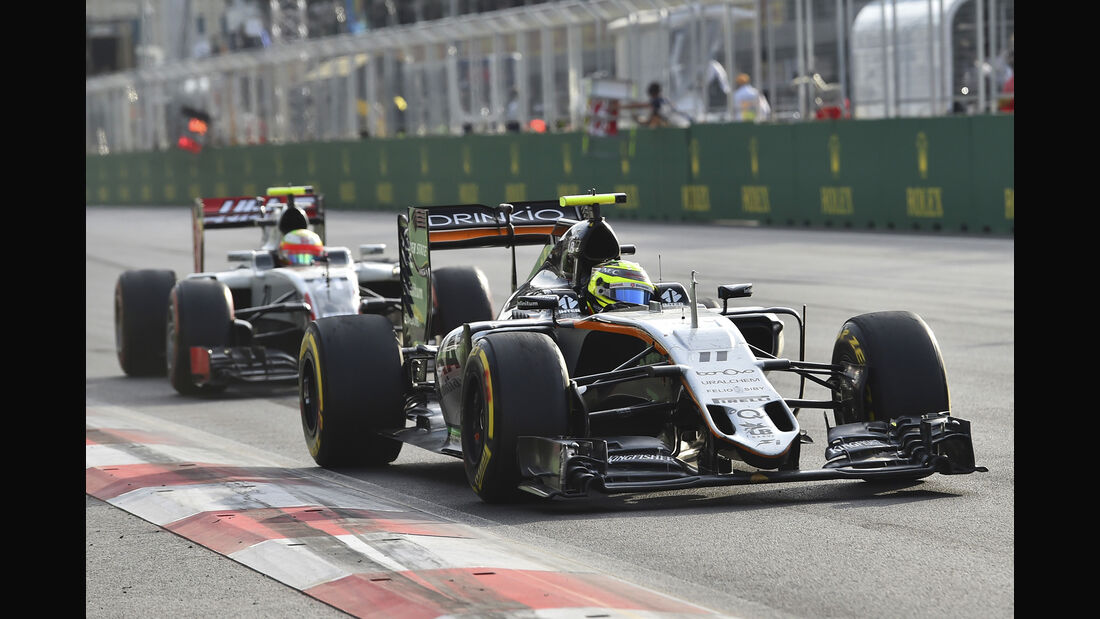 Force India vs. HaasF1 - Formel 1 - 2016