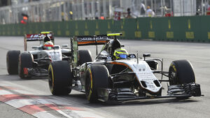 Force India vs. HaasF1 - Formel 1 - 2016