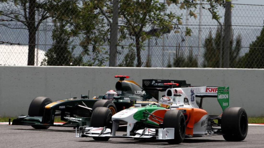 Force India vs. Lotus F1