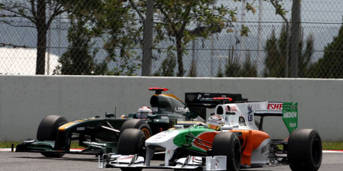 Force India vs. Lotus F1