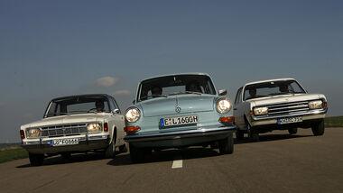 Ford 17 M 1700 CS, Opel Rekord 1700 und VW 1600 L