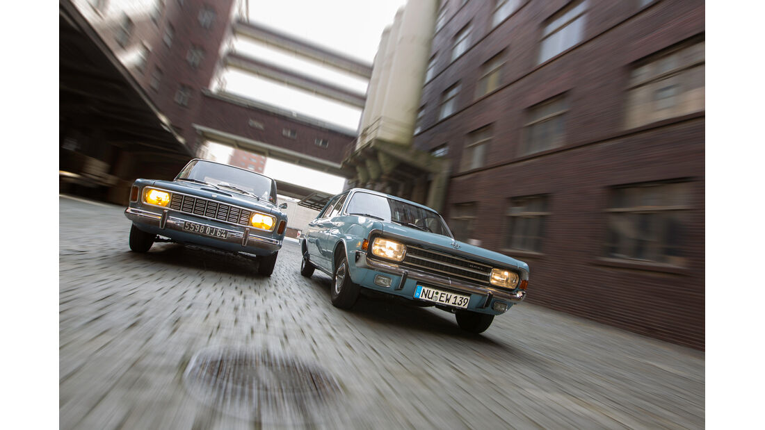 Ford 20 M, Opel Rekord 1900 L, Frontansicht
