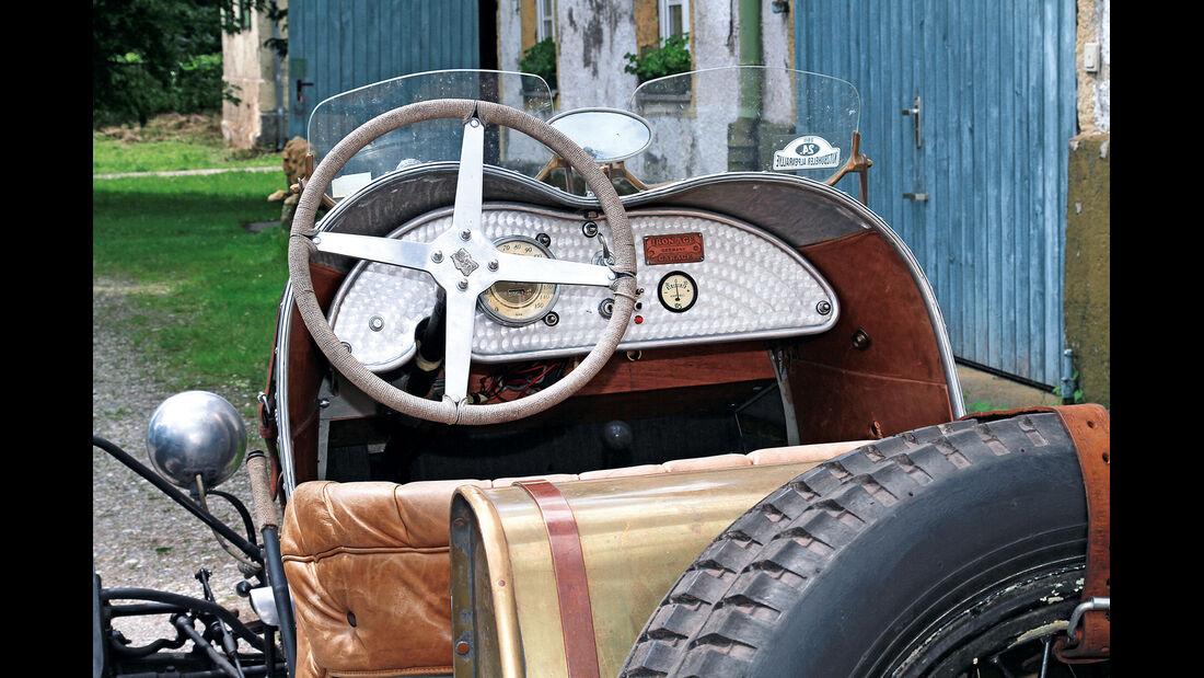 Ford A, Cockpit, Lenkrad