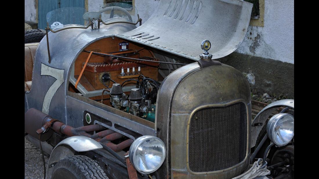 Ford A Speedster, Motorhaube, offen