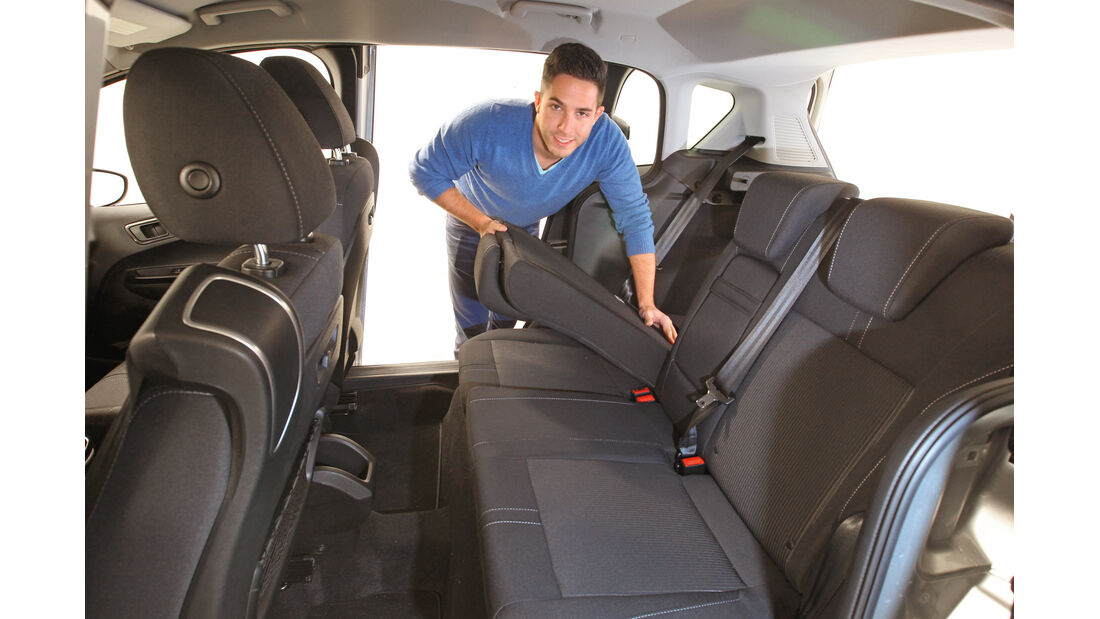 Ford B-Max 1.0 Ecoboost, Rücksitz, Umklappen