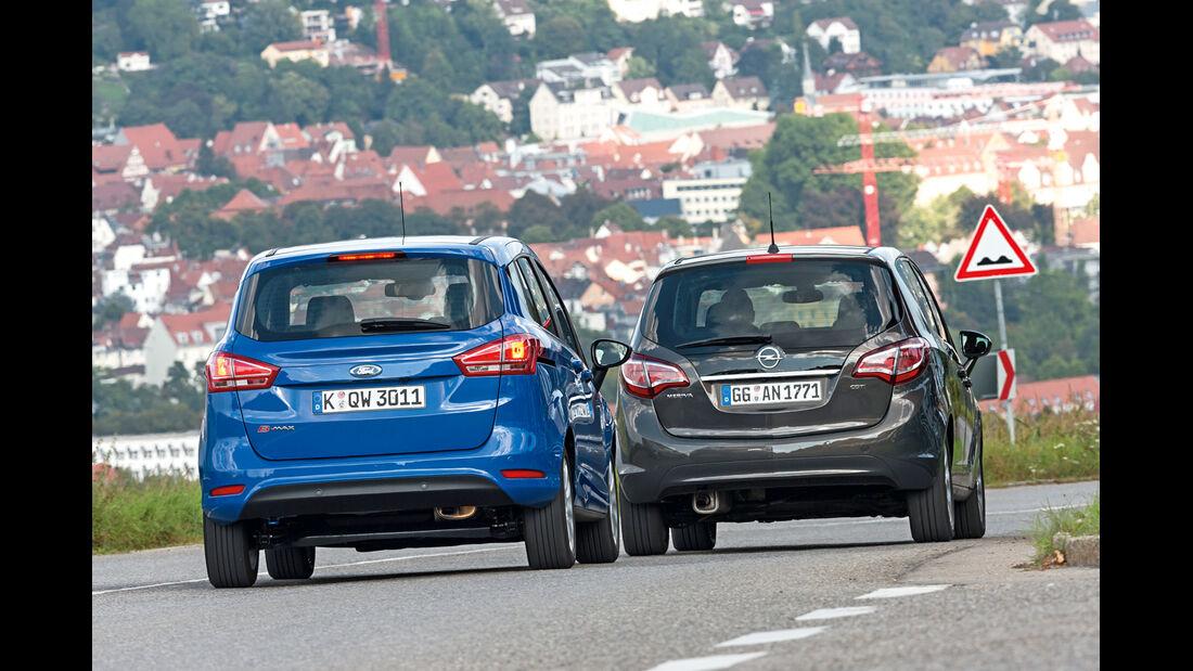 Ford B-Max 1.6 TDCi, Opel Meriva 1.6 CDTI,