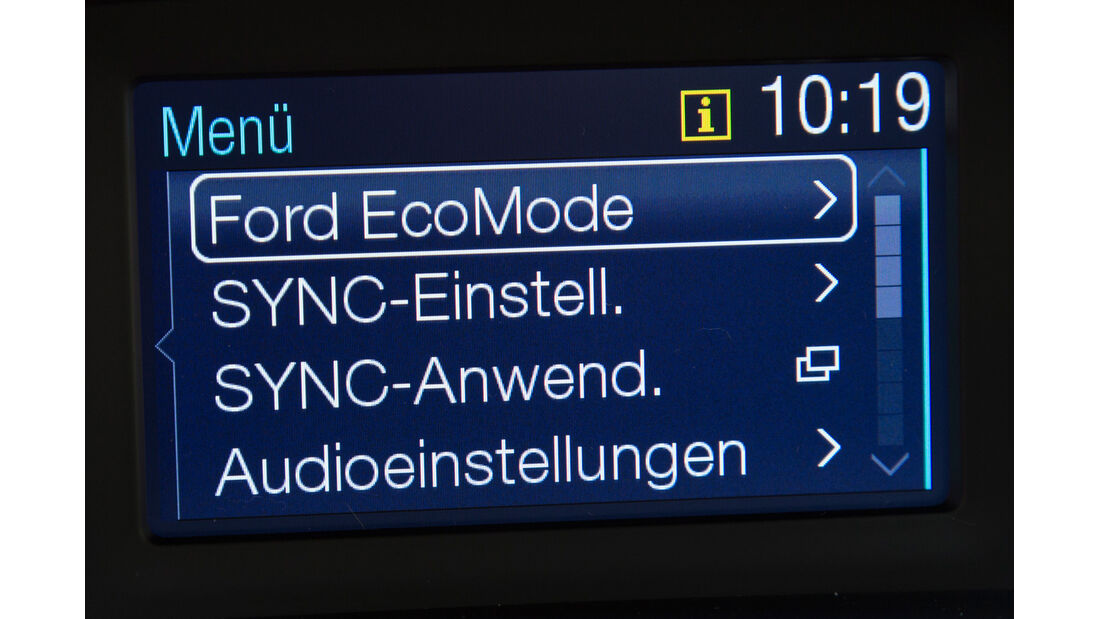 Ford B-Max, Display, EcoMode