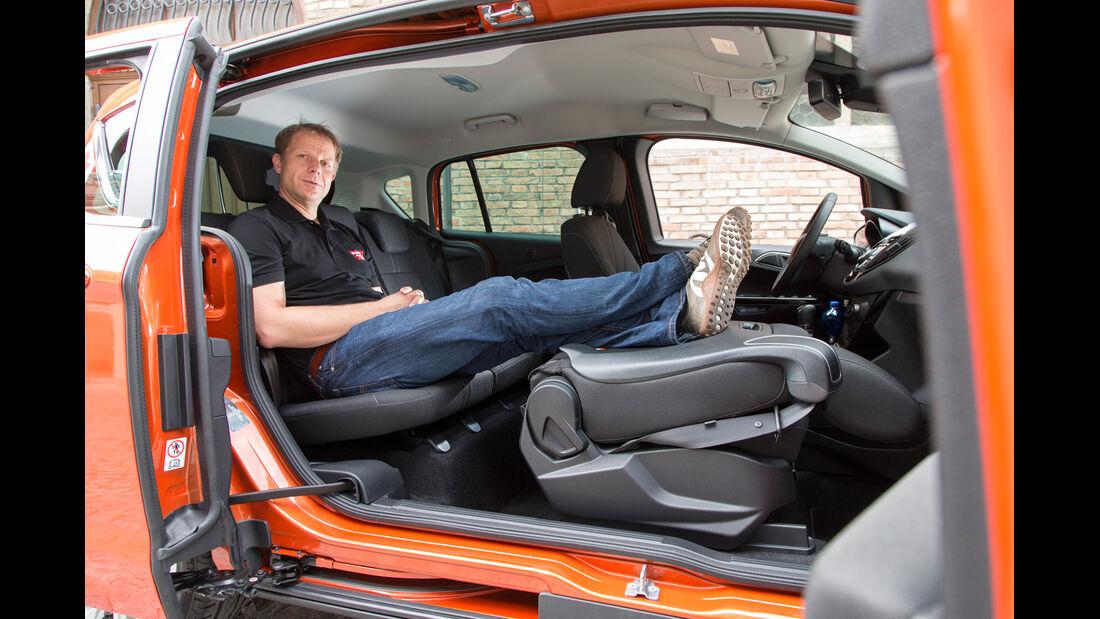 Ford B-Max, Rücksitz, Stuhl umklappen