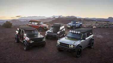 Ford Bronco Sondermodelle auf Moab Easter Jeep Safari 2021