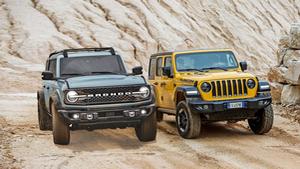 Ford Bronco Viertürer gegen Jeep Wrangler Unlimited