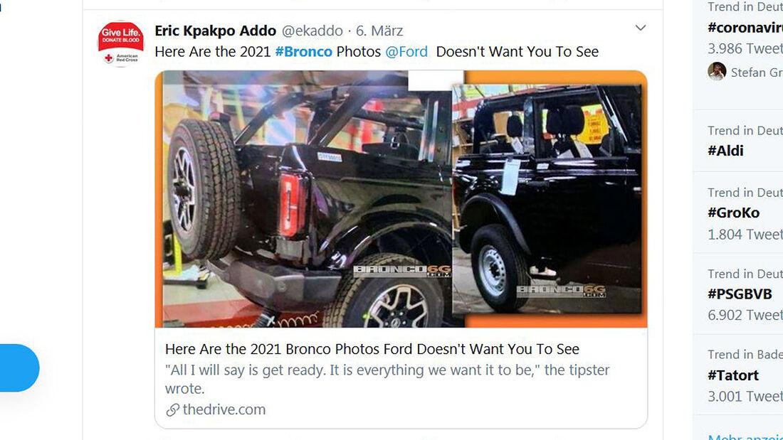 Ford Bronco Werk-Leak