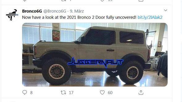 Ford Bronco Zweitürer Werk-Leak