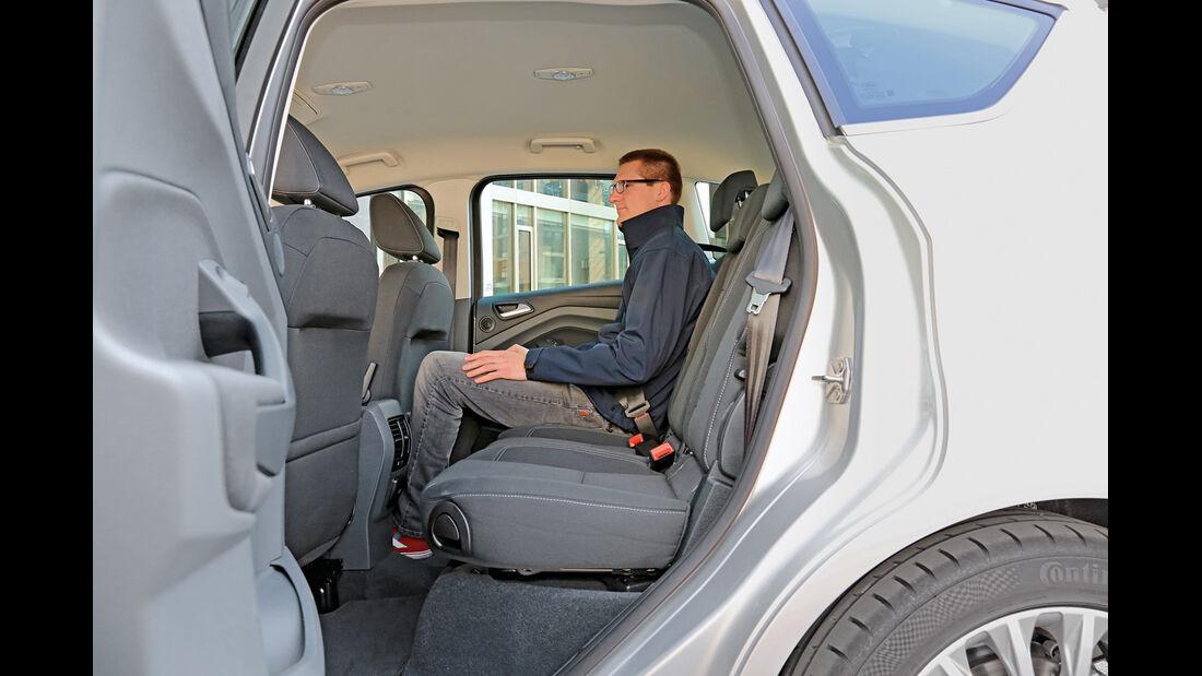 Ford C-MAX 2.0 TDCi, Fondsitz, Beinfreiheit