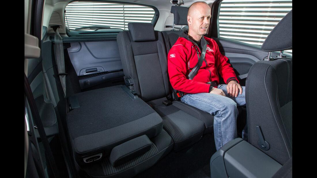 Ford C-Max 1.6 Ecoboost, Fondsitz, Beinfreiheit