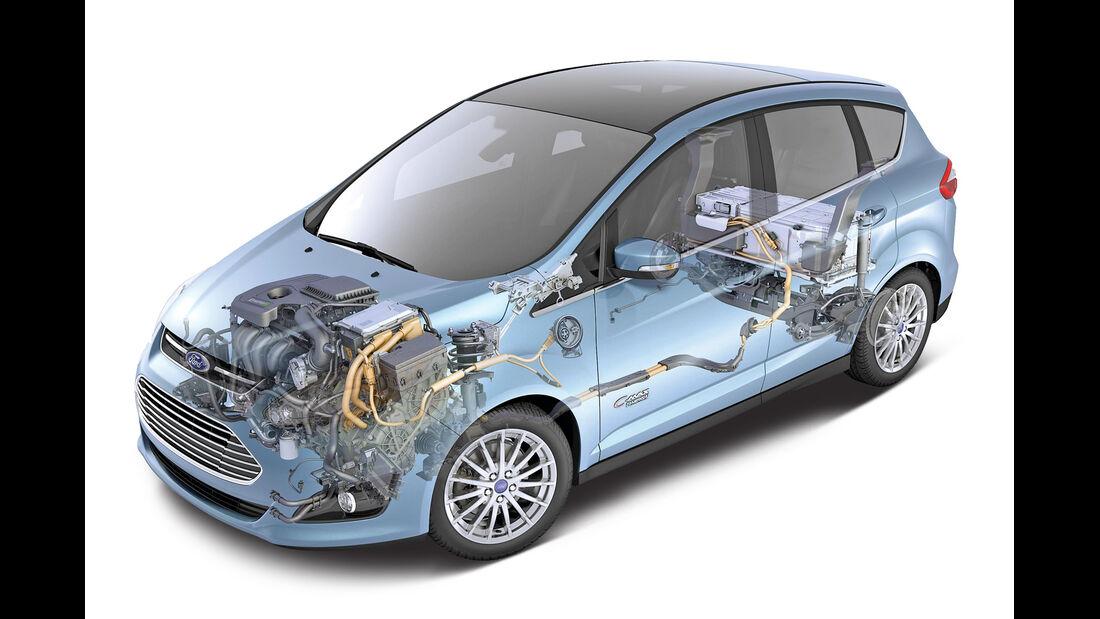 Ford C-Max Energi, Antrieb, Grafik