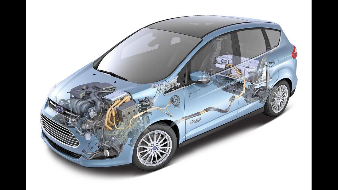 Ford C-Max Plug-in-Hybrid, Grafik, Technik