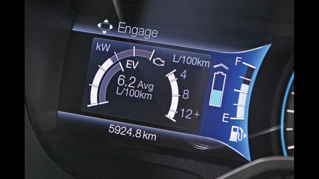 Ford C-Max Plug-in-Hybrid, Hybridanzeige