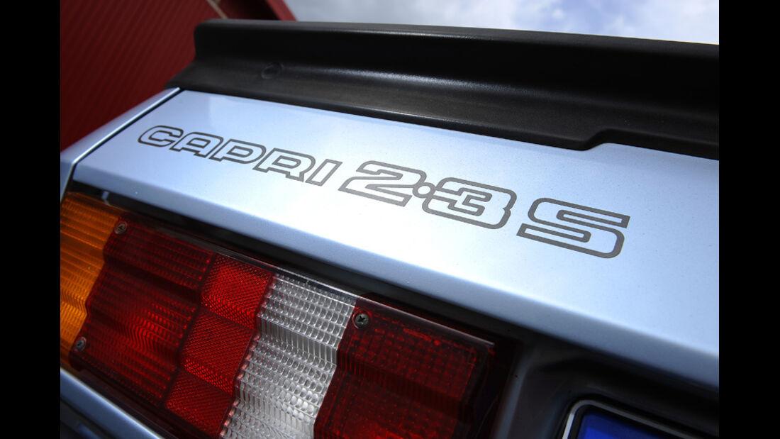 Ford Capri 1974-1986, Aufschrift