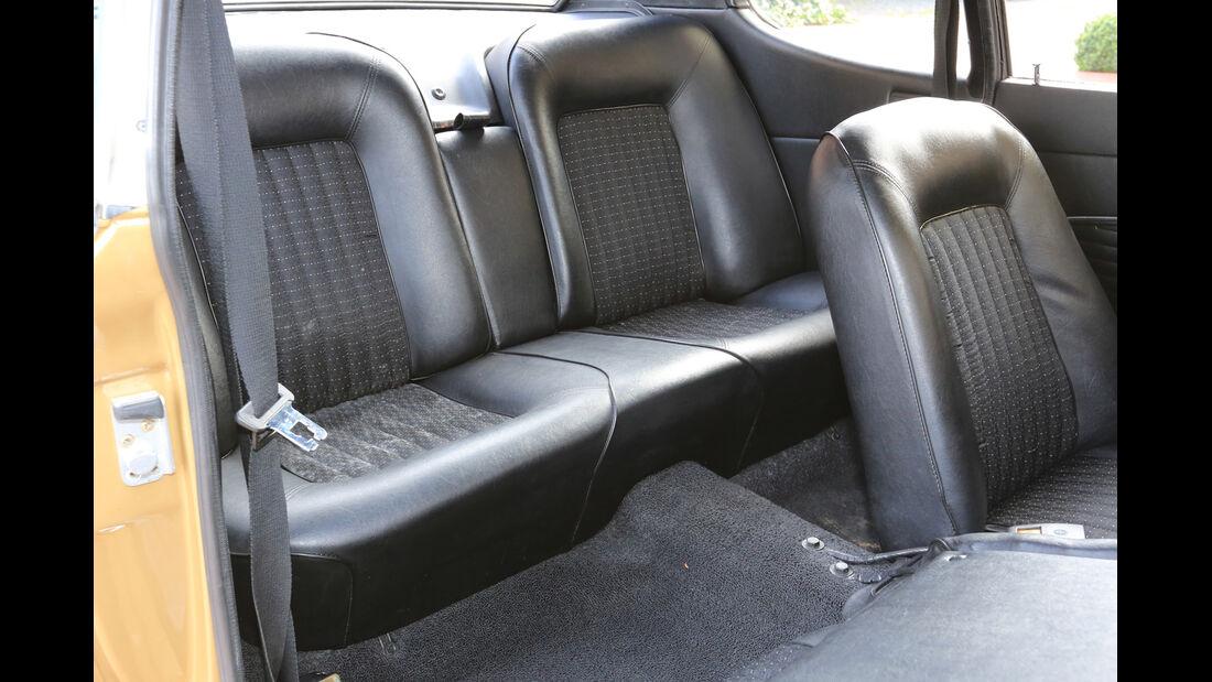 Ford Capri 2300 GT, Fondsitze
