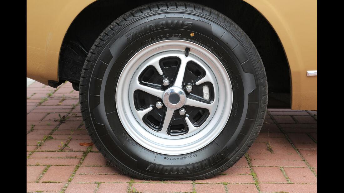 Ford Capri 2300 GT, Rad, Felge