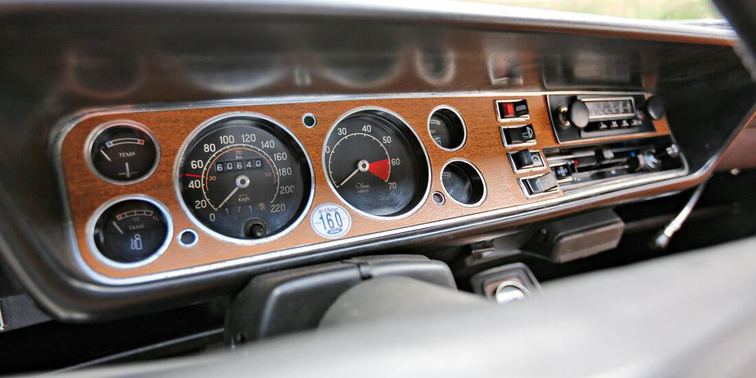 Ford Capri 2600 GT, Rundinstrumente