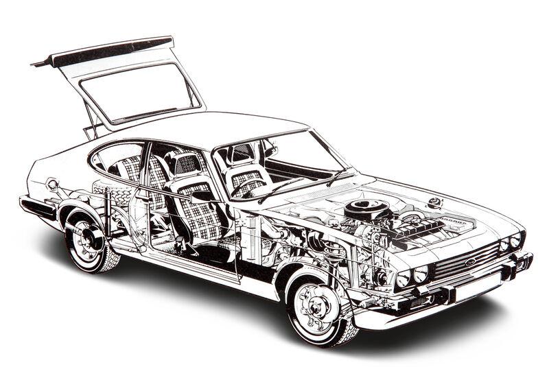 Ford Capri 3.0 Ghia, Durchsicht