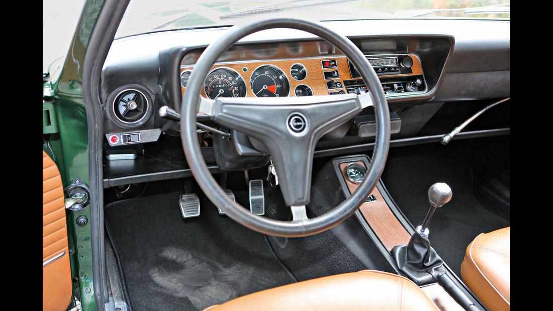 Ford Capri I, Cockpit, Lenkrad