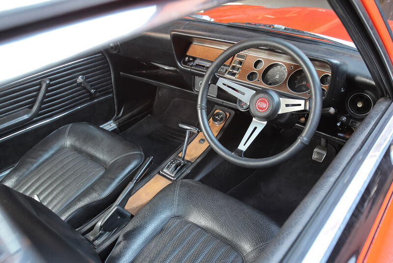 Ford Capri Perana, Cockpit, Lenkrad