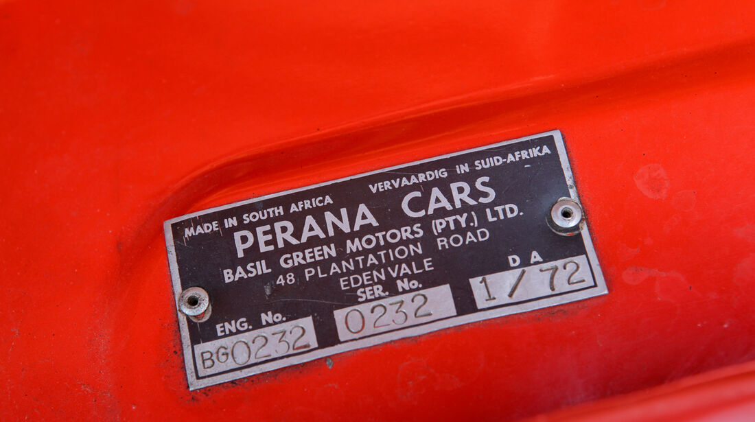 Ford Capri Perana, Typenbezeichnung, Schild