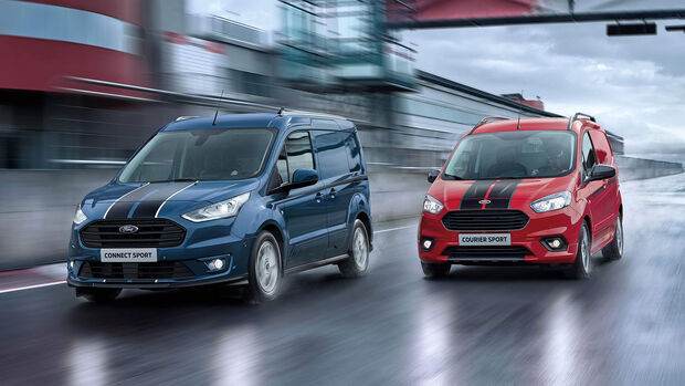 """Ford Courier, Connect Custom """"Sport""""-Varianten"""