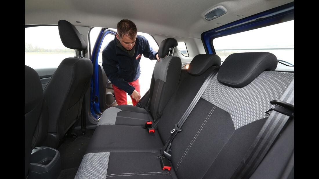 Ford Ecosport 1.0 Ecoboost, Fondsitz, Umklappen