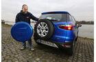 Ford Ecosport 1.0 Ecoboost, Heckansicht, Ersatzrad