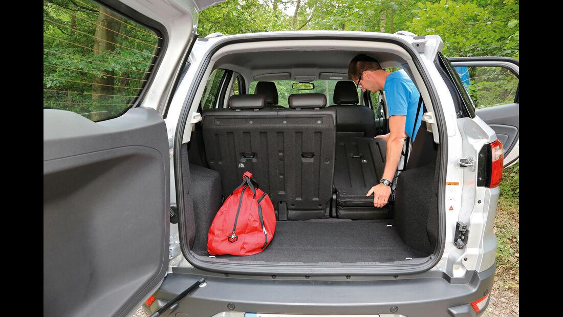 Ford Ecosport 1.5 TDCI, Kofferraum, Ladefläche