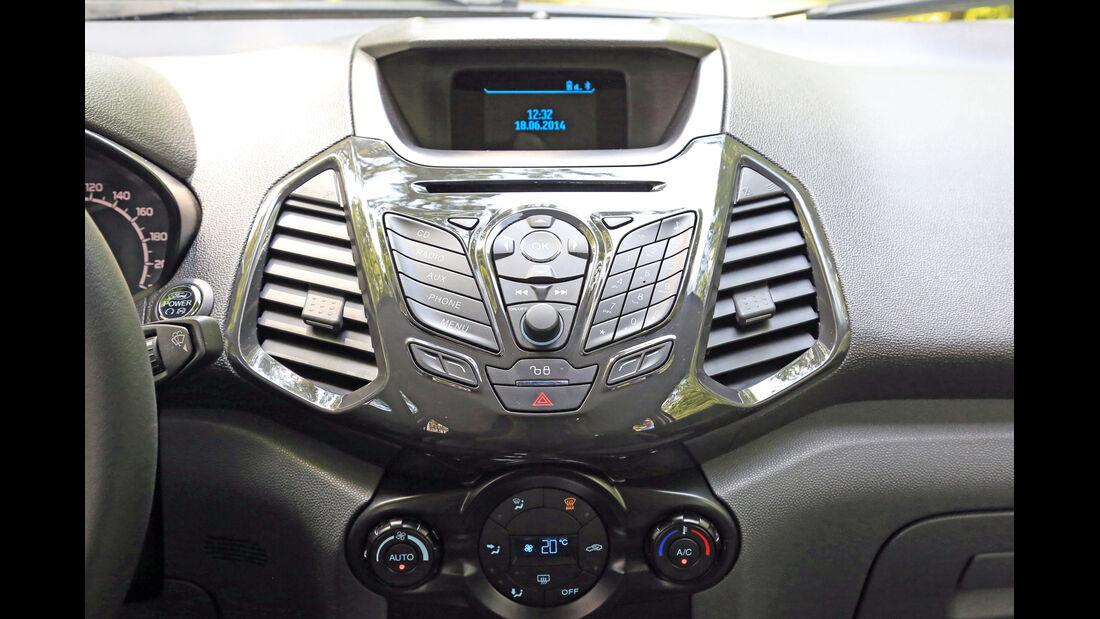 Ford Ecosport 1.5 TDCI, Mittelkonsole