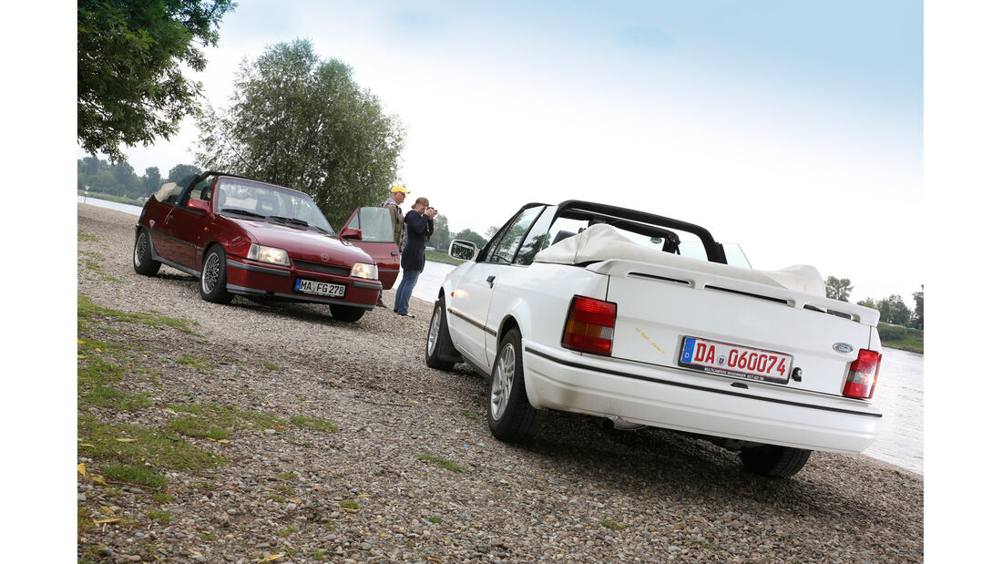 Ford Escort 1.6 XR3i Cabriolet, Opel Kadett E 2.0 GSi Cabriolet