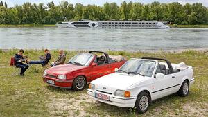 Ford Escort 1.6 XR3i Cabriolet, Opel Kadett E 2.0 GSi Cabriolet, Frontansicht