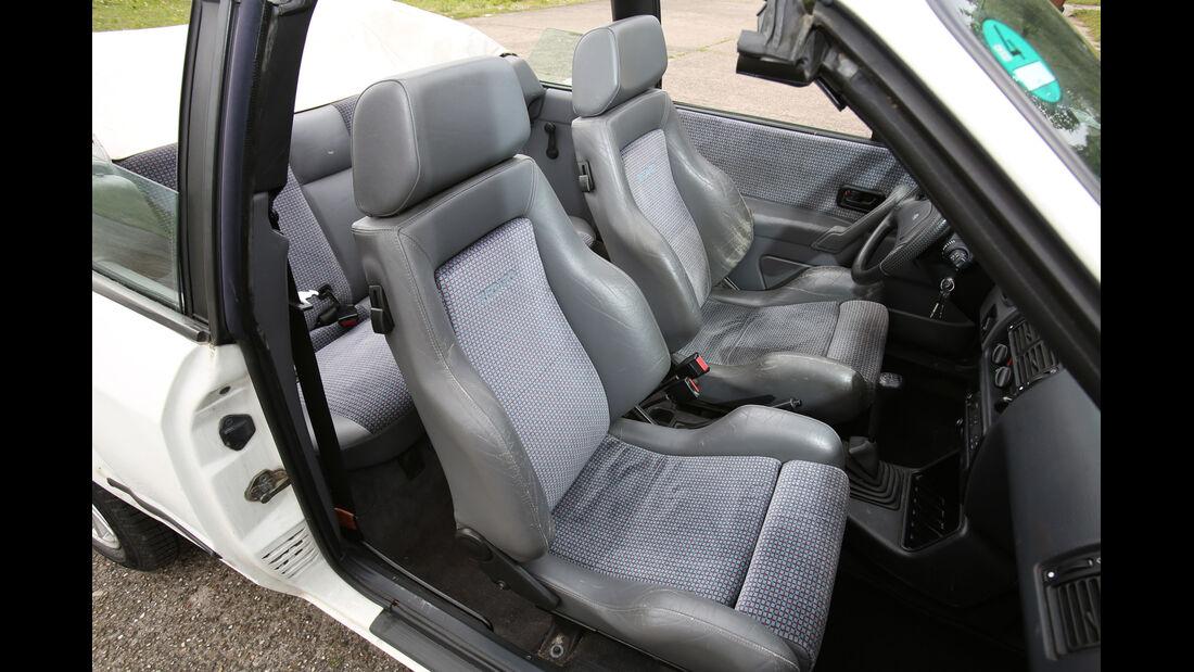 Ford Escort 1.6 XR3i Cabriolet, Sitze