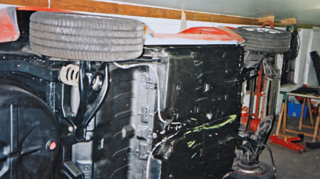 Ford Escort RS 1600i, Unterboden