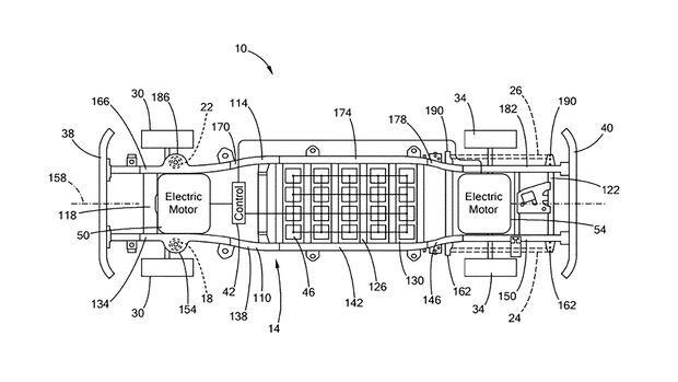 Ford F-150 Patent Elektroplattform