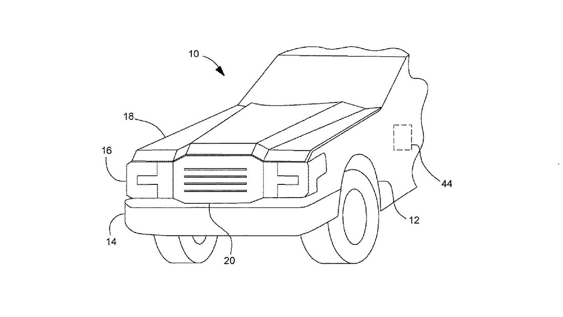 Ford F-150 electric Kofferraum-Patent
