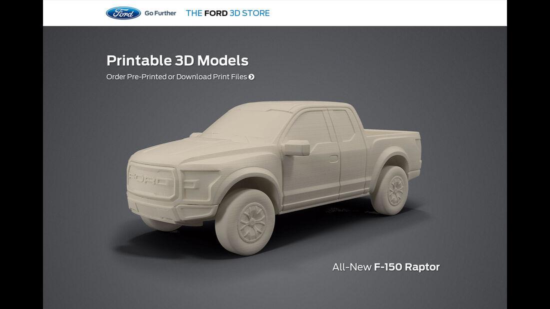 Ford F150 Raptor 3D Drucker Modell