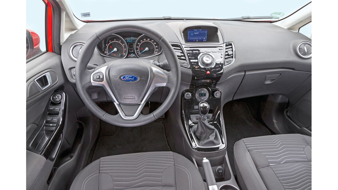 Ford Fiesta 1.0, Cockpit, Lenkrad