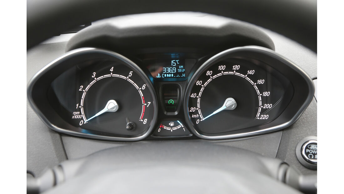 Ford Fiesta 1.0 EcoBoost, Rundinstrumente