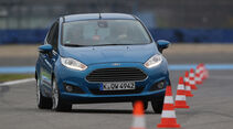 Ford Fiesta 1.0 Ecoboost, Frontansicht, Slalom