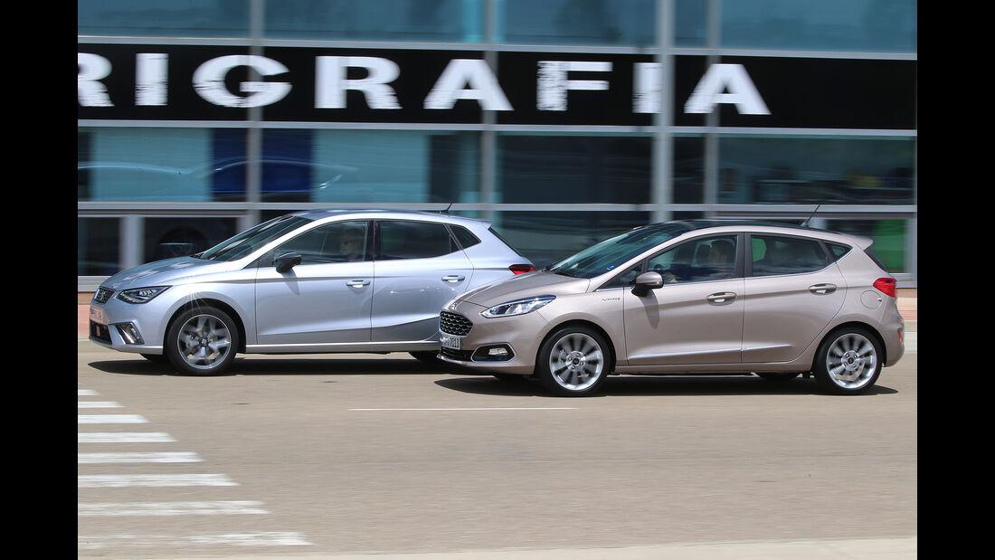 Ford Fiesta 1.0 Ecoboost Vignale, Seat Ibiza 1.0 EcoTSI Xcellence, Außenansicht