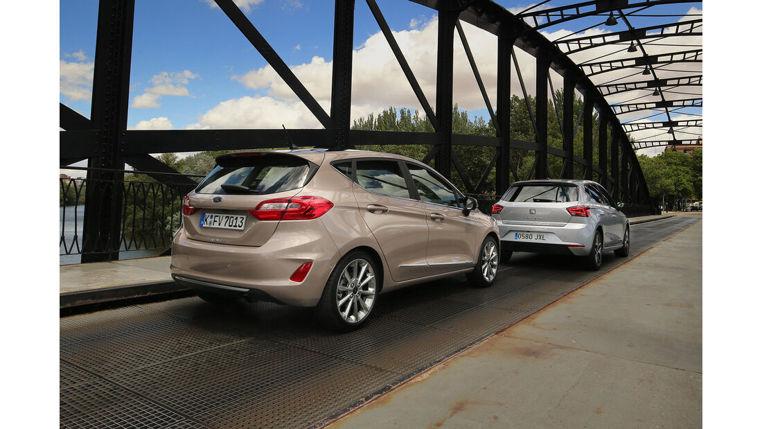 Ford Fiesta 1.0 Ecoboost Vignale, Seat Ibiza 1.0 EcoTSI Xcellence, Heck