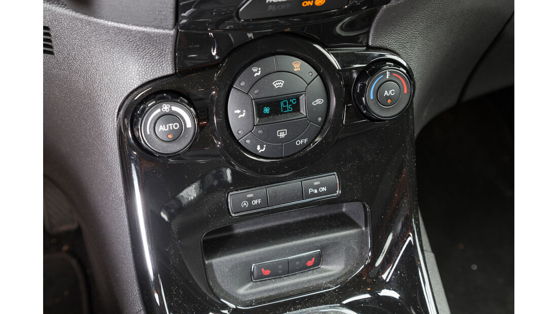 Ford Fiesta 1.0, Mittelkonsole
