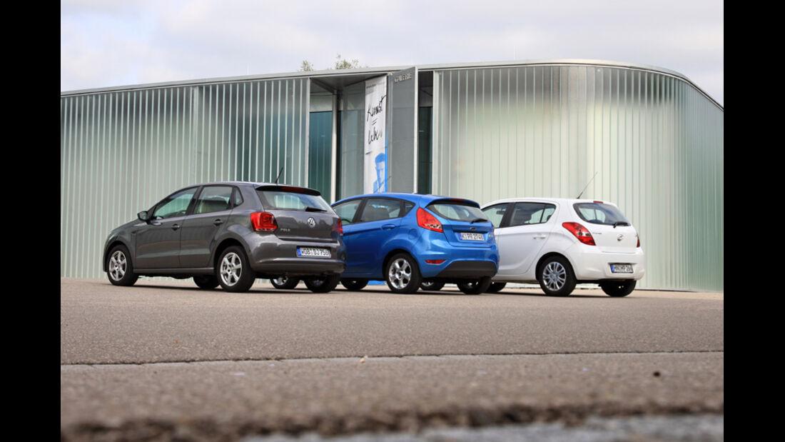 Ford Fiesta 1.25 Trend, Hyundai i20 1.2 Comfort, VW Polo 1.2 Trendline